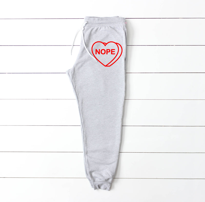 nope sweatpants - valentines day sweatpants - nope - valentines day outfit - valentines day single - single valentines day - valentines