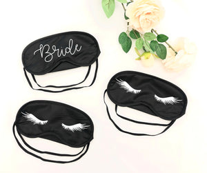 eyelash sleep mask, bridesmaid sleep mask, bachelorette party favor, bridesmaid eye mask, bachelorette party, custom sleep mask