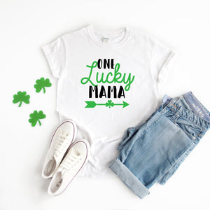 Mom St. Patricks Day Shirt- Mama St Patty's Day Shirt - St. Patricks Day Outfit - One Lucky Mama Shirt - New mom St Patty's day gift