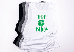 Cute Saint Patty's Day Outfit- Here to Paddy tank - Saint Patrick's day tank - Women's Saint Patrick's day tank - Women's St Patty's day -