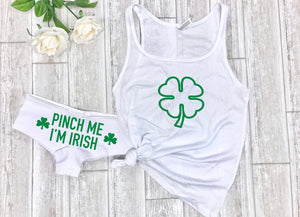 Gift for him, Pinch me I'm Irish, Lingerie set for him, St Pattys gift for spouse, cute sleepwear, St Patty's day lingerie, sexy lingerie