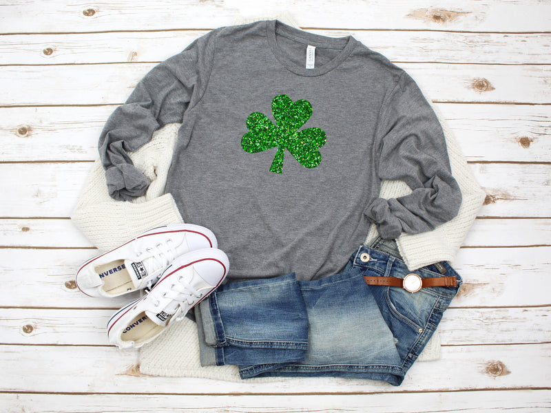 Womens irish shirt - glitter shamrock tee - irish af tee - St. Patricks day shirt - womens st. patricks day shirt - irish womens shirt