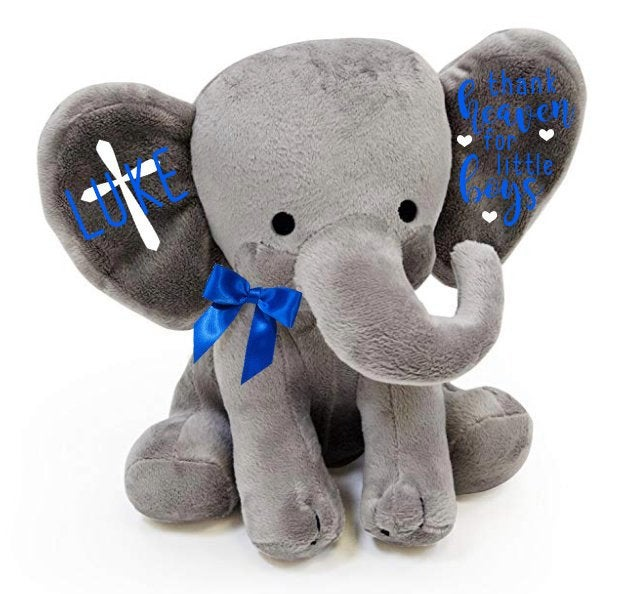 Baptism gift - Christening gift - Godparent gift - gift for goddaughter - Gift From Godparents - Personalized Elephant - Godchild