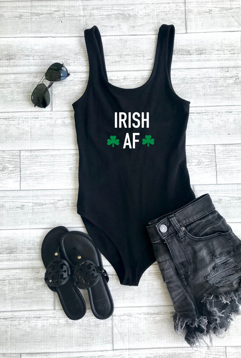 Irish af bodysuit, st. patricks day body suit, shamrock body suit, drinking bodysuit