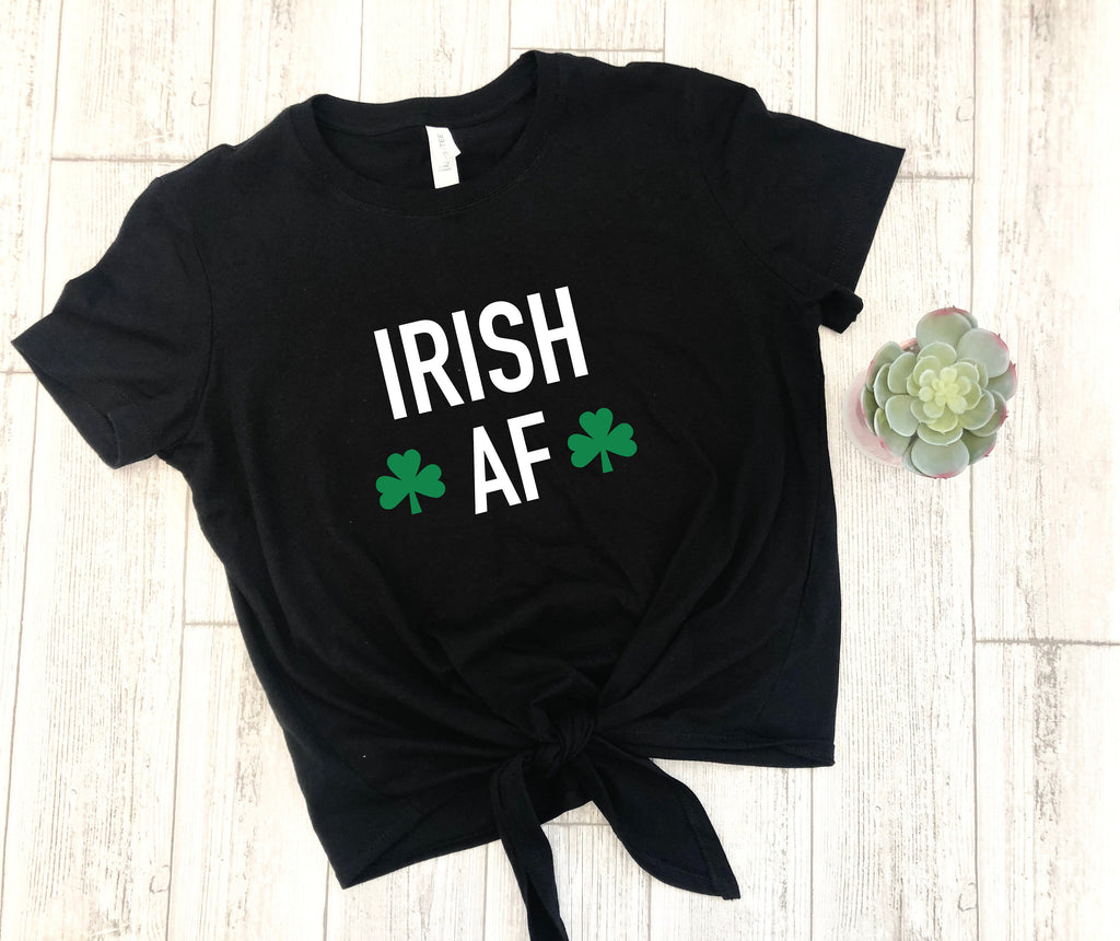 irish af crop top, St. patricks shirt, drinking shirt, shamrock crop top, drinking crop top