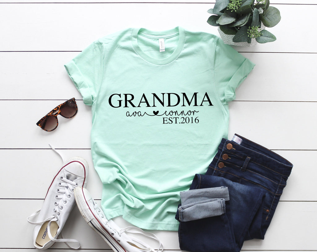 Birthday gift for grandma, Mothers day gift, Custom Grandma shirt, Cute gift idea, Custom Mother's day gift,