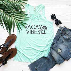 Vacation tank, Vacay vibes, vacation shirt, summer top, cute women's tank, vacation outfit, summer outfit, top for vacay