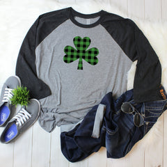 buffalo plaid shirt - st. patricks day shirt - buffalo shamrock shirt - shamrock shirt - st patricks day outfit - holiday shirt - Irish tee