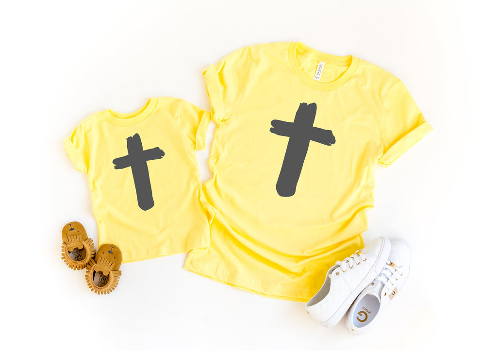 Cross shirt - Mommy and me easter shirt - Matching easter shirt - mom and daughter easter shirt - womens easter shirt - mommy and me easter