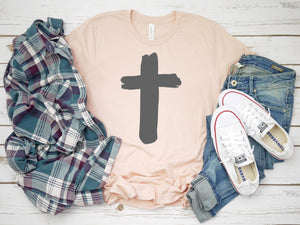 Womens cross shirt -  Cross tshirt - Cross tee - Womens Christian tee - Womens Christian shirt - Easter shirt - Womens Easter shirt