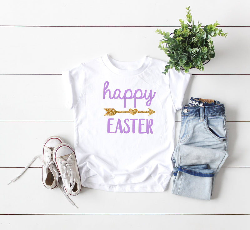happy easter shirt - glitter easter shirt - baby easter shirt - kids easter shirt  - cute easter shirt kids - toddler easter shirt