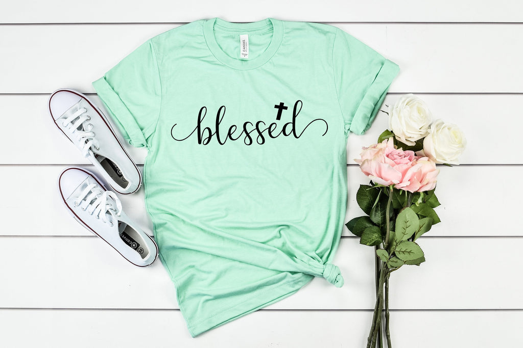 blessed tshirt - Womens Easter shirt - Womens blessed shirt - Cross tee - Womens Christian apparel - Womens Christian shirt - Easter shirt