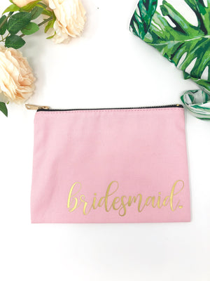 Gift for bridesmaid, bridal party proposal, gift idea for bridesmaid, bridesmaid makeup bag, cute bridesmaid gift, will you be my bridesmaid