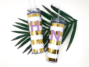 Gift idea for mom, Mothers day gift, Tumbler with Initial, Cute Birthday gift for teen, Birthday party favors, Tumbler with personalization