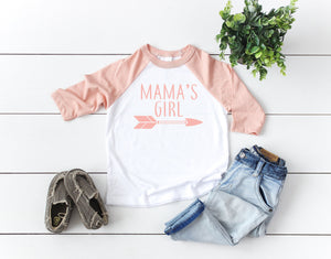 mamas girl shirt, newborn girl shirt, infant girl shirt, gift idea for mom, mother and daughter shirts, matching tees, mom and kid gift