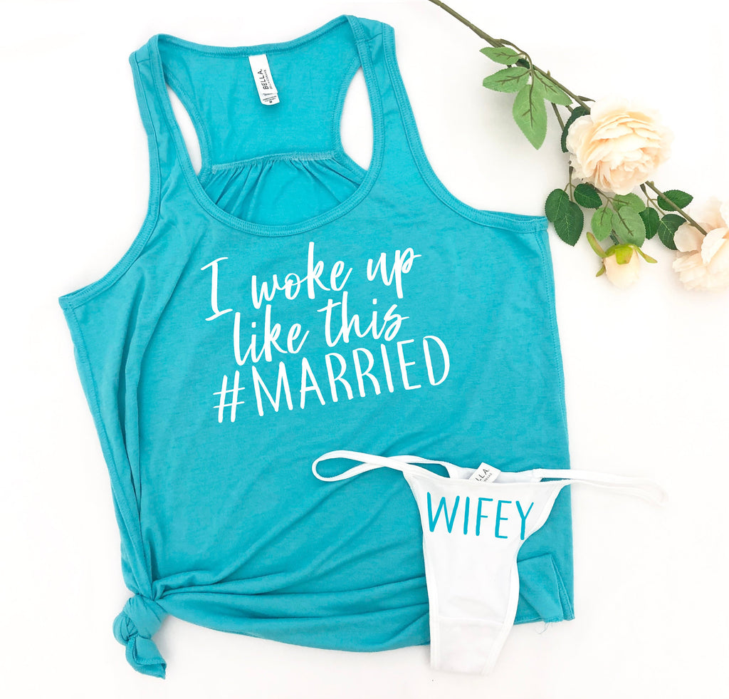 wifey pajama set, I woke up like this married set, honeymoon outfit, wifey shorts, just married outfit, wedding night pajamas, bridal pjs