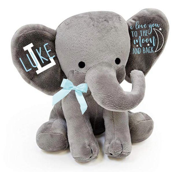 personalized baby shower gift - personalized baby gift - baby boy gift - baby girl gift- gift for new baby - new parents gift - elephant