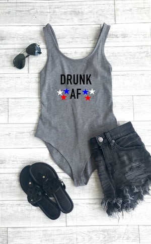 4th of July bodysuit,  drunk af bodysuit, cute body suit, fourth of July top,  body suit, drinking bodysuit, woman's outfit
