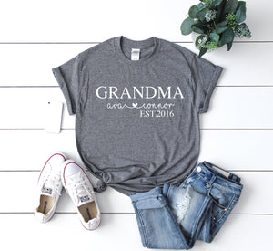 Custom Mother's day gift, Gift idea for Grandma, Birthday gift for nana, Mothers day gift, Custom Grandma shirt, Cute gift idea,