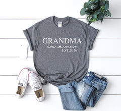 Custom grandma shirt, Mothers day gift for grandma, grandmother gift, grandma gift from grandchildren, birthday gift for grandma