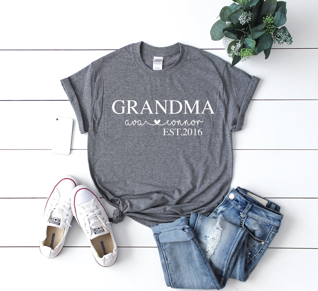 Mothers day gift for grandma, grandmother gift, custom grandma shirt, grandma gift from grandchildren, birthday gift for grandma