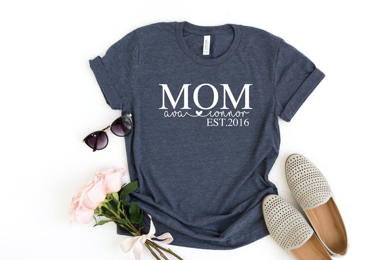 Proud Mom t-shirt, Personalized Gift for Mom, Mothers day gift from children, Birthday gift for mom, Custom t-shirt for mom,