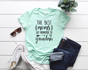 Promoted to grandma, Gift for grandma, Gift for mom, Birthday gift, Mothers day gift, Mom shirt, Grandma shirt,