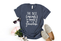 Mothers day gift, Best grandma shirt, Promoted to grandma, Gift for grandma, Gift for mom, Birthday gift, Mom shirt, Grandma shirt,
