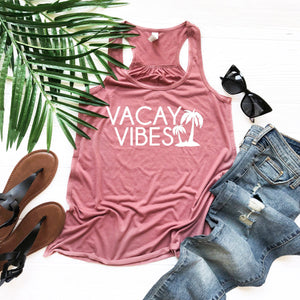 Top for vacay, Vacation tank, Vacay vibes, vacation shirt, summer top, cute women's tank, vacation outfit, summer outfit