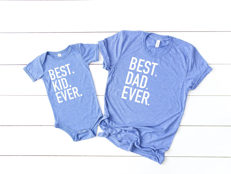Best dad ever, best kid ever, fathers day gift, number one dad, first fathers day, gift for husband, gift from wife, matching son and dad