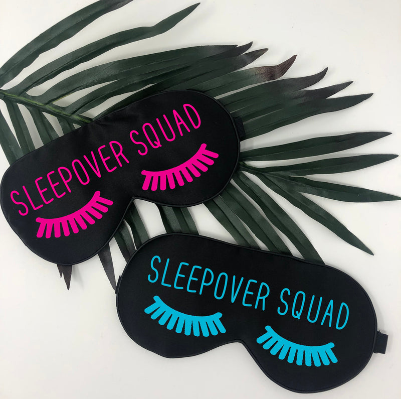 sleepover squad eye mask slumber party sleep mask, sleepover sleep masks, eyelash sleep mask, name sleep mask, slumber party sleep mask