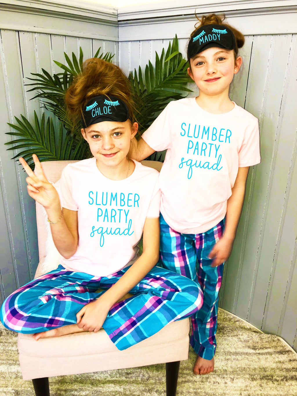 slumber party squad, slumber birthday party, teen bday shirt, birthday squad, personalized teenager pjs, sleepover squad pjs, slumber party