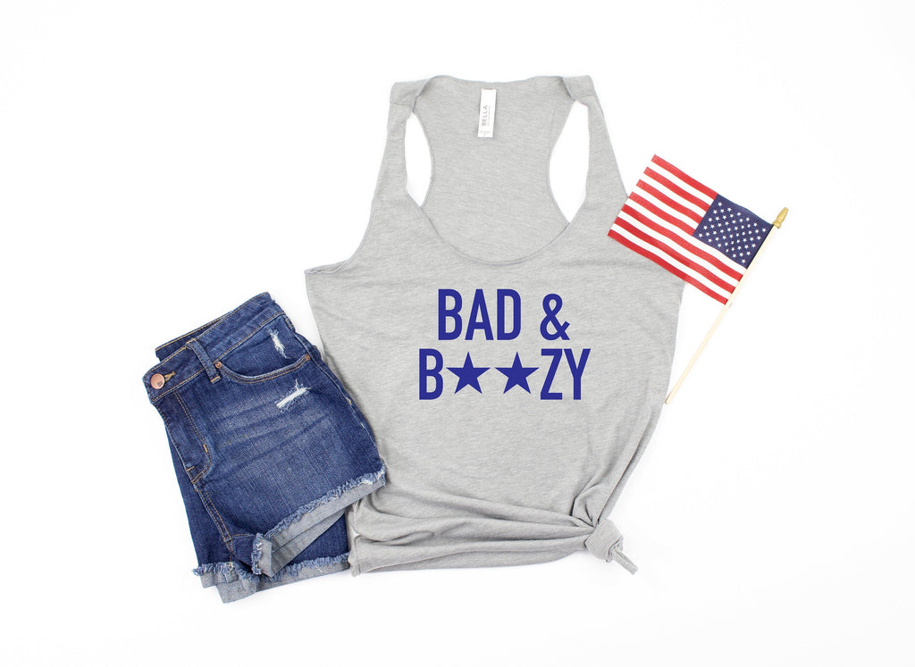 bad and boozy tank - womens 4th of july shirt - 4th of july shirt women - funny 4th of july shirt - 4th of july tank - fourth of july tank