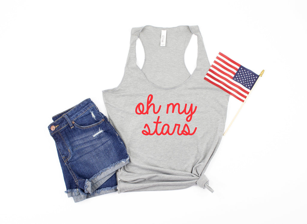 womens 4th of july tank - oh my stars tank - 4th of july tank -  womens 4th of july shirt - 4th of july shirt women - fourth of july tank