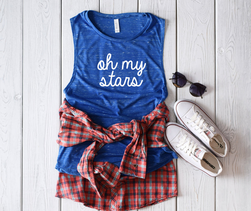 oh my stars tank, fourth of July tank, patriotic tank, memorial day tank, 4th of July shirt, 4th of July tank top, red white blue