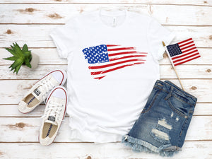 women's flag shirt, 4th of July tee, 4th of July shirt, patriotic tee, red white blue shirt, women's 4th shirt, 4th of July tee, flag tee