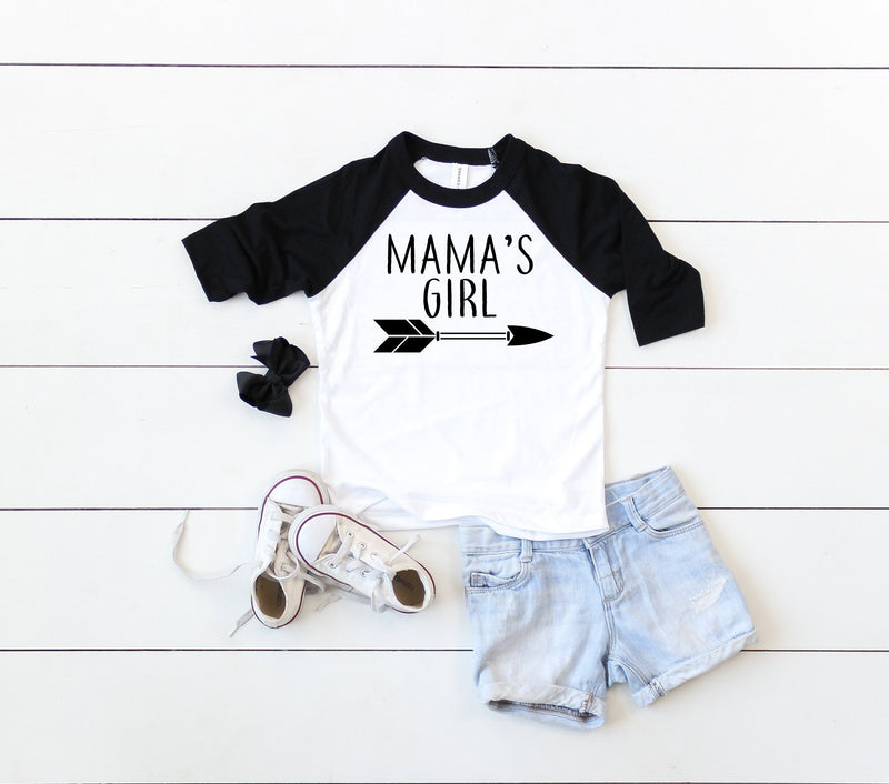 mamas girl shirt, mamas girl, newborn girl shirt, gift idea for mom, mother and daughter shirts, matching tees mom and kid gift