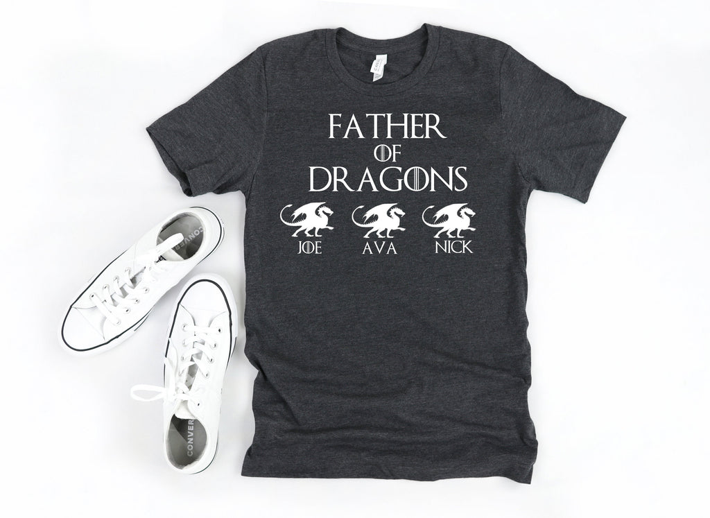 Father of dragons, funny fathers day shirt, fathers day shirt for husband, custom fathers day shirt, fathers day shirt from children