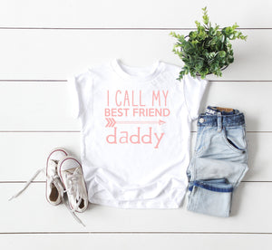 daddy is my best friend, first fathers day gift from son, I call my best friend daddy, outfit for family photos, fathers day gift from child