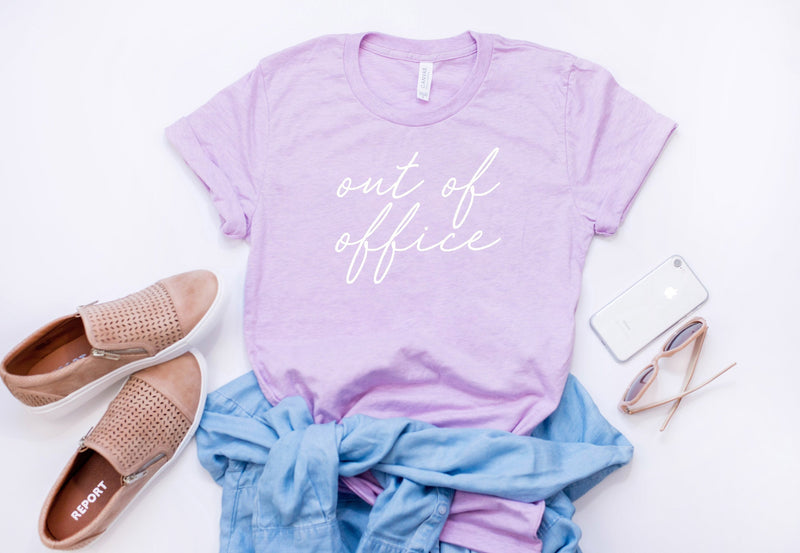 out of office shirt - woman's t-shirt - vacation shirt - Woman's graphic tee - gift for boss - vacay outfit - gift for boss