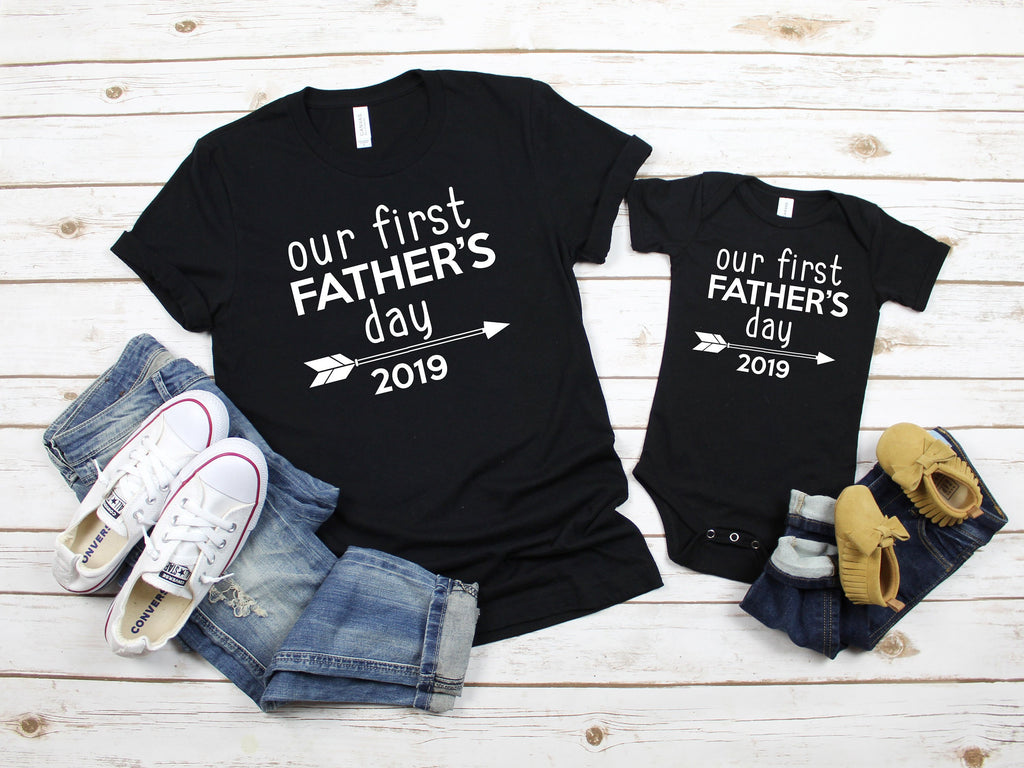 Fathers day 2019, Fathers day gift for husband, Our first Fathers day, First Father's day gift, matching dad and son, family picture shirts
