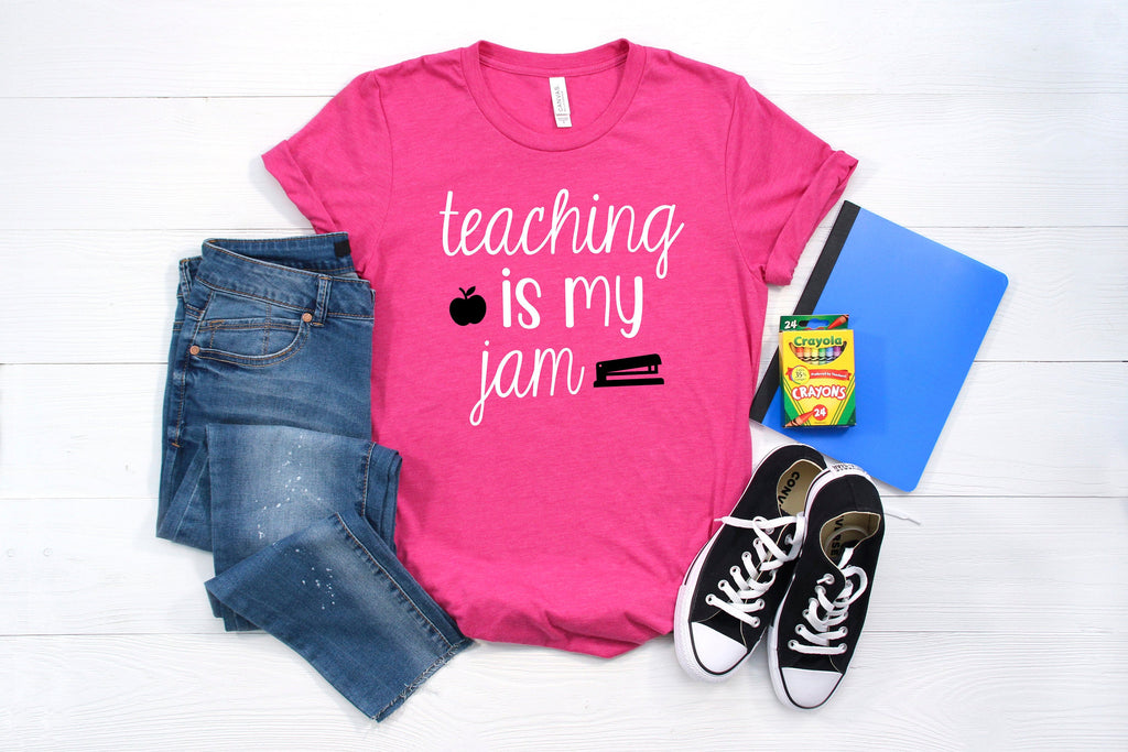 teaching is my jam shirt, 1st day of school shirt teacher, 1st day of school shirt teacher, teacher shirt, shirt for teacher, teacher tshirt