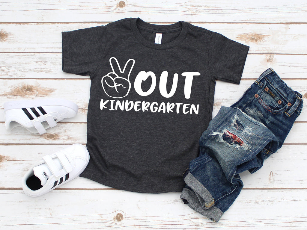 kindergarten graduate shirt, peace out kindergarten shirt, graduation shirt, last day of kindergarten shirt, kindergarten graduation tee
