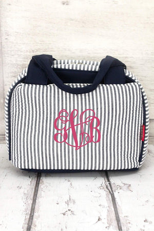 girls lunchbox, seersucker bag, seersucker, cute lunch bag, school lunch bag, arrow bag, girls lunch bag, monogram lunch bag, lunchbox girl