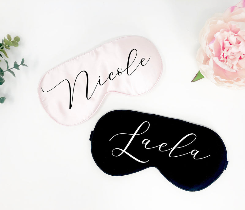 custom sleep mask, bridal party gift, bachelorette party favor, Personalized sleep mask, bridesmaid gift, bridesmaid sleep mask, eye mask
