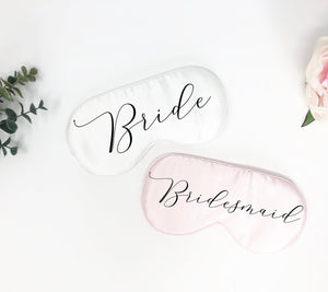 Custom sleep mask, bachelorette party favor, bridesmaid gift, bridesmaid sleep mask, bridal party gift, eye mask, personalized sleep mask