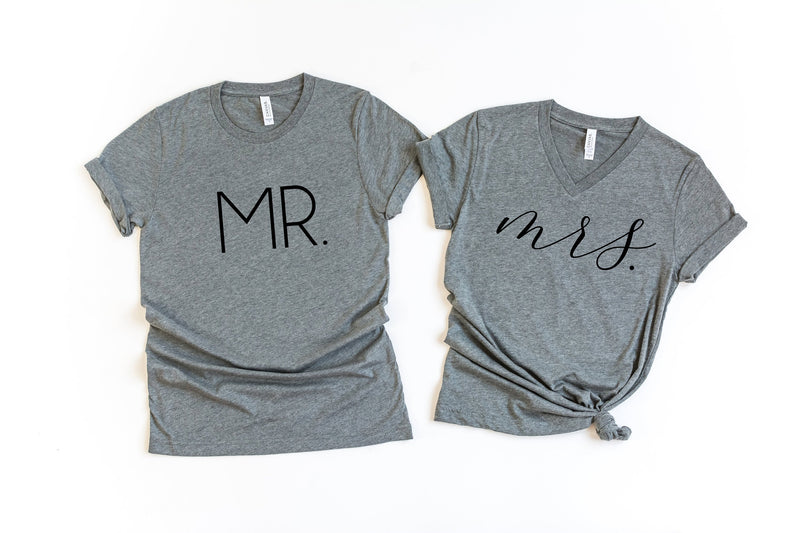 Wedding shirts, groom shirt, bride shirt , Mr and Mrs Shirts, Honeymoon Shirts, Couples Shirts, wedding gift, bridal gift, engagement gift