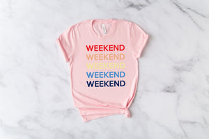 weekend shirt, cute weekend tee, hello weekend shirt, girls trip shirt, weekend getaway shirt, girls trip, hello weekend