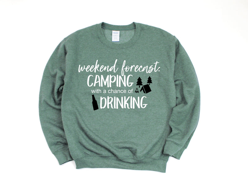 happy camper shirt, camping shirt, camping with a chance of drinking shirt, funny camping shirt, camping tee, womens camping shirt