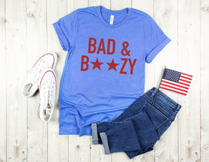 bad and boozy shirt, fourth of july shirt, 4th of july shirt, memorial day shirt, funny 4th of july shirt,  funny 4th tee, patriotic shirt